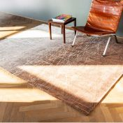 8878 Mad Men Fahrenheit Pecan Frost Rug by Louis De Poortere