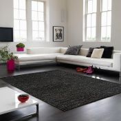 Abacus Charcoal Plain Rug By Asiatic