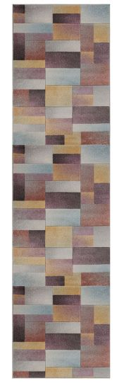 Ada Hand Carved Lilia Multi Runner by Flair Rugs