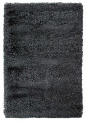 Albany Charcoal Plain Shaggy Rug by Flair Rugs