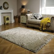 Albany Natural Plain Shaggy Rug by Flair Rugs