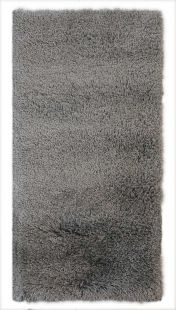 Albany Silver Plain Shaggy Rug by Flair Rugs