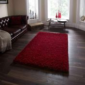 Amazon AM-10 Red Wool and Viscose Rug By Think Rugs