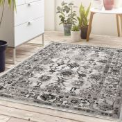 Anatolia Light Grey Traditional Rug by Origins