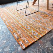 Antiquarian Kilim 9111 Riad Orange Flatweave Rug by Louis De Poortere