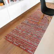Antiquarian Kilim 9115 Fez Red Flatweave Rug by Louis De Poortere