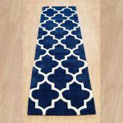 Arabesque Blue Modern Wool Runner by Oriental Weavers