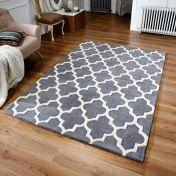 Arabesque Grey Modern Wool Rug by Oriental Weavers