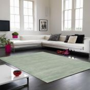 Aran Duck Egg Plain Wool Luxury Rug By Asiatic