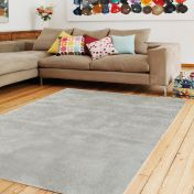 Aran Feather Grey Plain Wool Luxury Rug by Asiatic