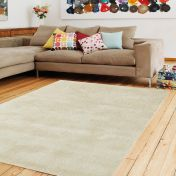 Aran Sand Plain Wool Luxury Rug by Asiatic