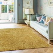 Diva Yellow Shiny Polyester Rug by Asiatic