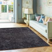 Diva Charcoal Shiny Polyester Rug by Asiatic