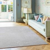 Diva White Shiny Polyester Rug by Asiatic