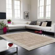 Blade Border Champagne Putty Rug By Asiatic