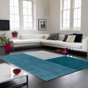 Blox Teal Geometric Rug By Asiatic