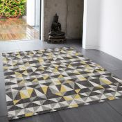Nova NV01 Flag Yellow Rug by Asiatic