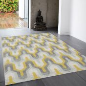 Nova NV14 Geo Yellow Rug by Asiatic