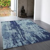 Nova NV16 Painterly Navy Rug by Asiatic