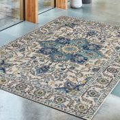 Nova NV25 Blue Rug by Asiatic