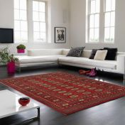 Bokhara Red Traditional Wool Runner by Asiatic