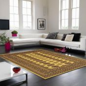 Bokhara Gold Traditional Wool Runner by Asiatic