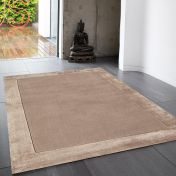 Ascot Sand Bordered Wool Rug by Asiatic