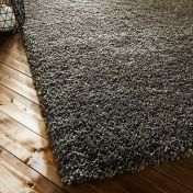 Athena Taupe Plain Shaggy Rug by Flair Rugs