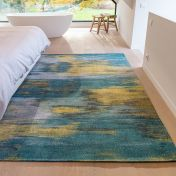 Atlantic Monetti 9119 Nymphea Blue Flatweave Rug by Louis De Poortere