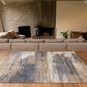 Atlantic Monetti 9121 Giverny Beige Flatweave Rug by Louis De Poortere