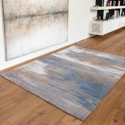 Atlantic Monetti 9122 Grey Impression Flatweave Rug by Louis De Poortere