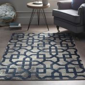 Avanti Blue Grey Geometric Rug by Origins