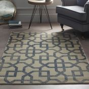 Avanti Cream Blue Geometric Rug by Origins
