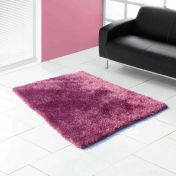 Boston Heather Plain Shaggy Rug by Ultimate Rug