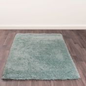Boston Duckegg Plain Shaggy Rug by Ultimate Rug