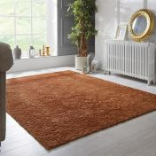 Barada Damascus Gold Floral Rug by Flair Rugs