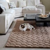 Basketweave 3D Blush Wool Rug by Origins