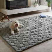 Basketweave 3D New Grey Wool Rug by Origins