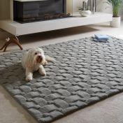 Basketweave 3D New Grey Wool Rug by Origins