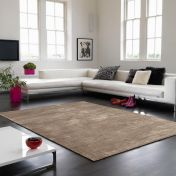 Bellagio Taupe Handmade Viscose Rug by Asiatic