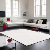 Bellagio White Handmade Viscose Rug by Asiatic