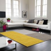 Blox Mustard Geometric Rug By Asiatic