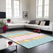 Boca BC01 Stockholm Pink Geometrical Rug by Asiatic
