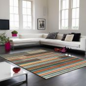 Boca BC07 Copenhagen Multi Striped Rug by Asiatic