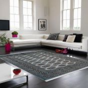 Bokhara Blue Traditional Wool Runner by Asiatic