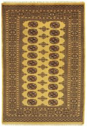 Bokhara Gold Traditional Wool Rug by Asiatic