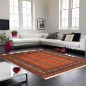 Bokhara Rust Traditional Wool Runner by Asiatic