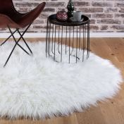 Boogie BOG 930 Cream Shaggy Circle Rug by Unique Rugs