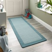 Borders Duck Egg Wool Runner by Origins
