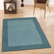 Borders Duck Egg Wool Rug By Origins